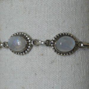 Bracelet en Labradorite blanche