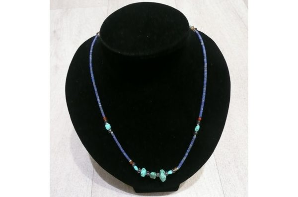 Collier fin Afghan en Lapis Lazuli