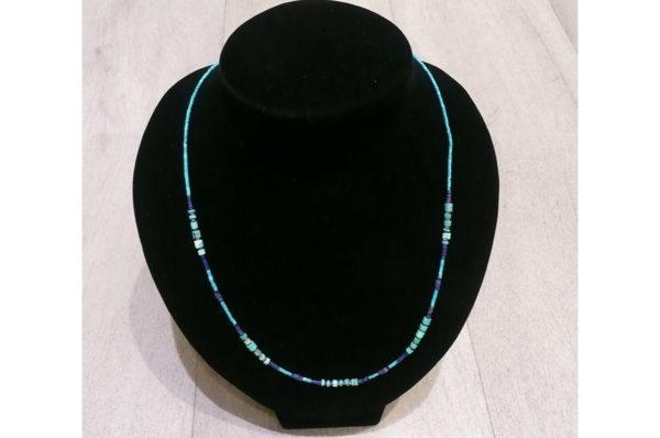 Collier fin Afghan en Turquoise et Lapis Lazuli