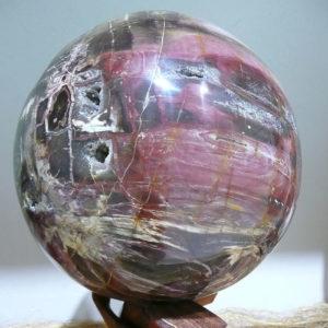 Sphère de bois fossilisé de Madagascar